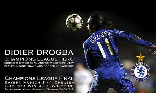 Didier Drogba Champs League Hero - PC & Smart Phones