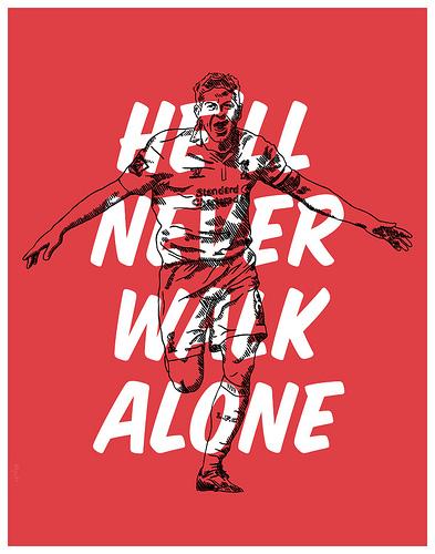 Steven Gerrard Motto Print