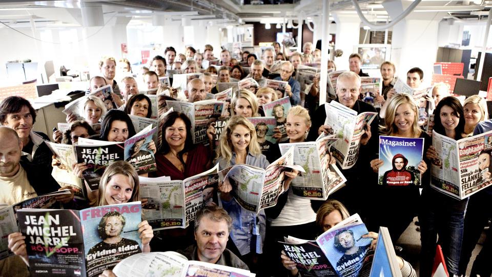 VOKSER: For femten år siden lanserte Dagbladet sin nettavis. Nå er den større enn VGs papirutgave, målt i antall daglige lesere. Foto: Lars Eivind Bones / Dagbladet